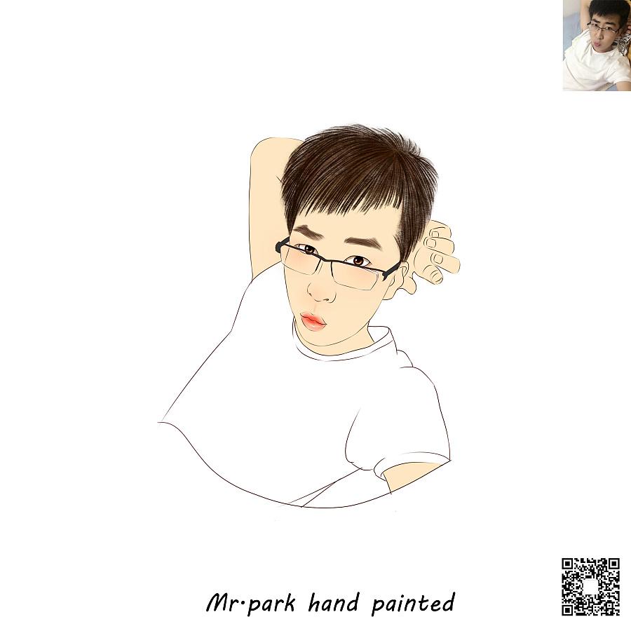 手绘画像/ 手绘人像/人物插画/微信头像|绘画习作