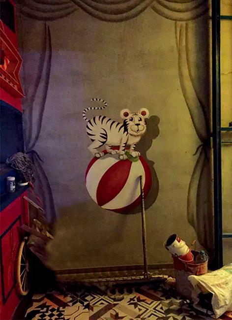 无锡恒达广场笑颜烤鱼餐厅墙体彩绘