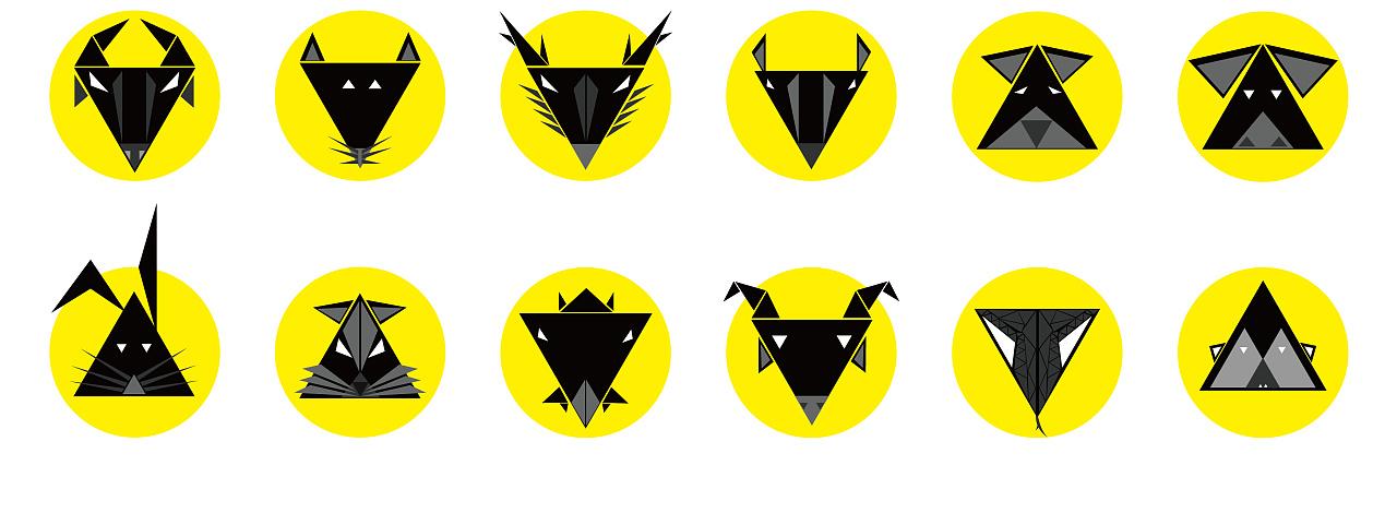 图形创意-三角形 平面 图案 阿清design - 原创作品图片