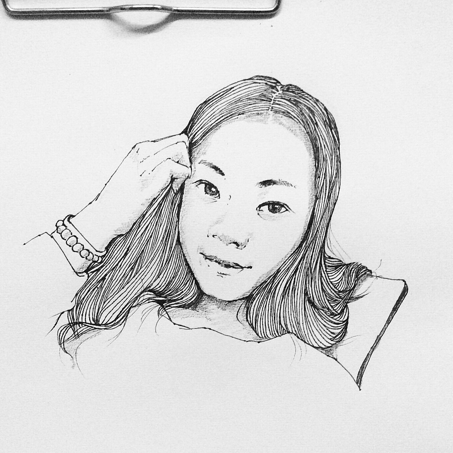 简笔画 手绘 素描 线稿 900_900