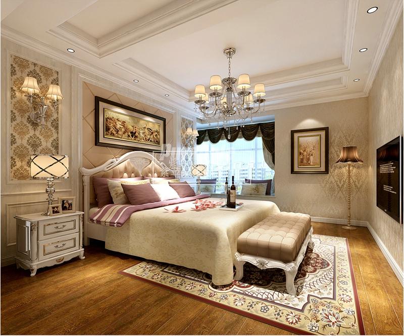 贵阳美的林城时代180平米欧式风格装修效果图案例图片