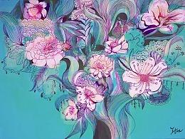 花的世界-随笔一画