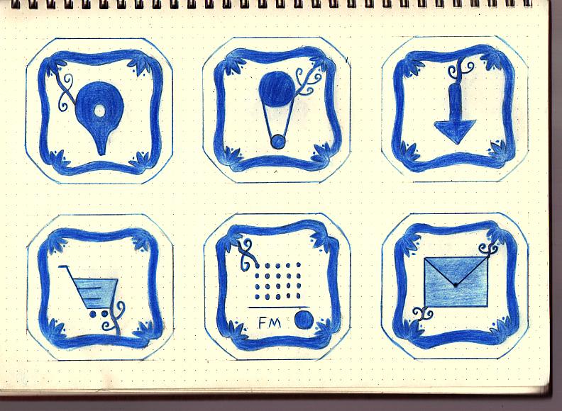 手绘主题图标-青花瓷