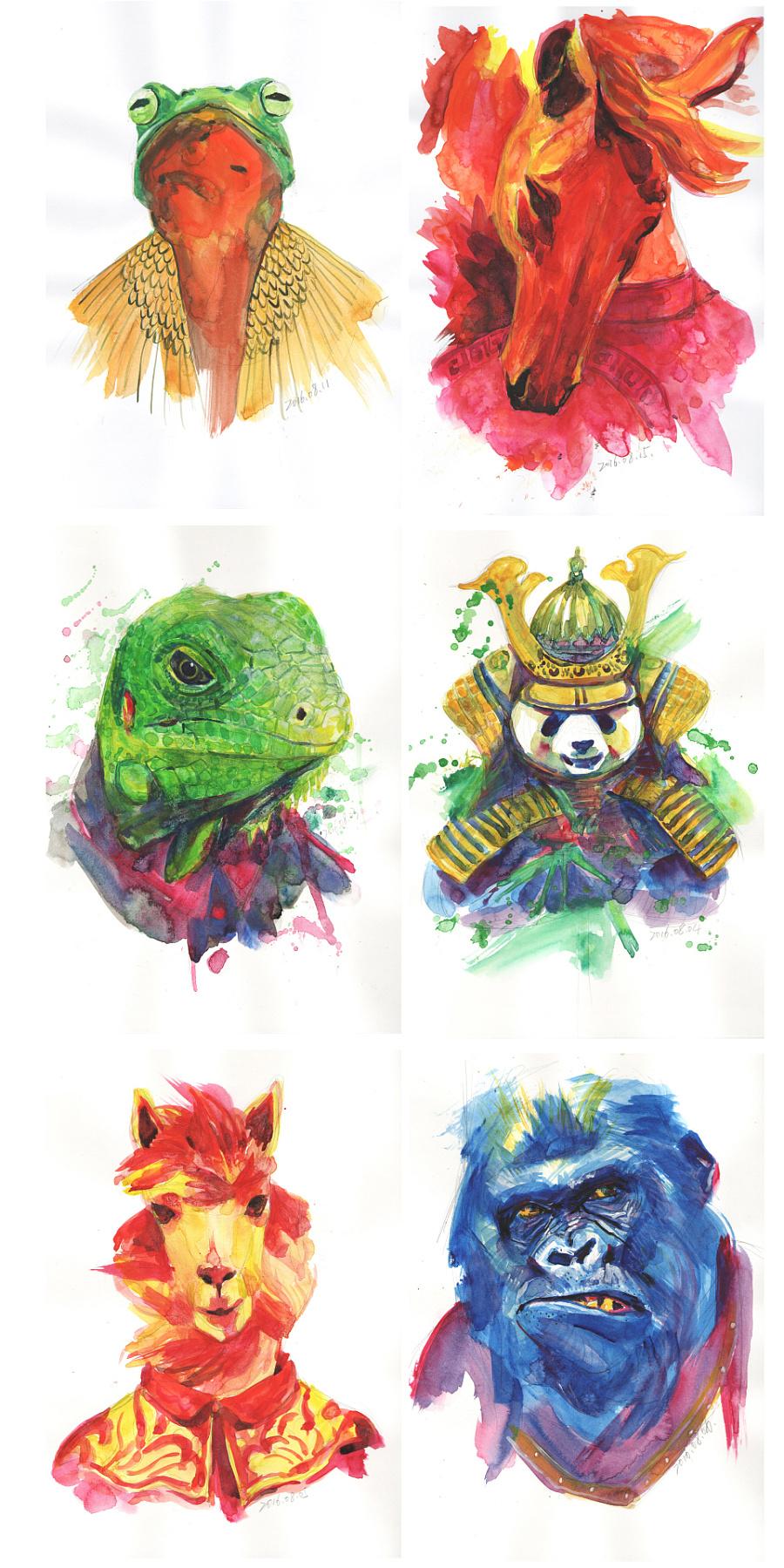 查看《百图斩|拟人化动物形象绘画》原图,原图尺寸:960x1919