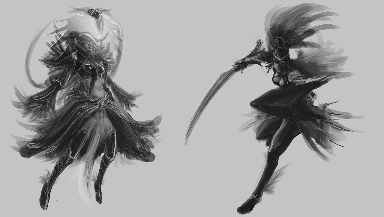 两个女性角色概念设计