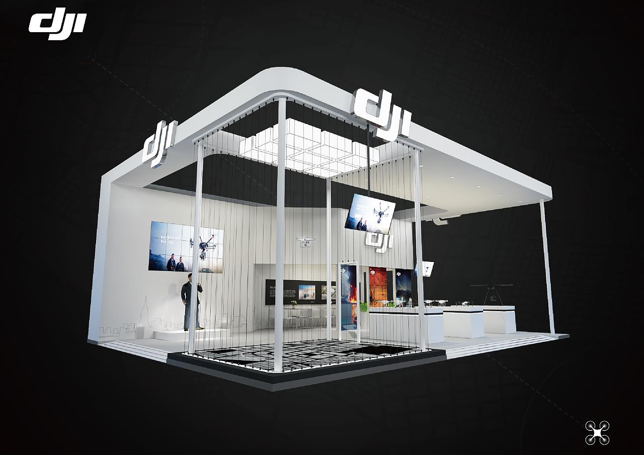 大疆展台|空间|展示设计 |吃姑娘的小蘑菇 - 原创作品