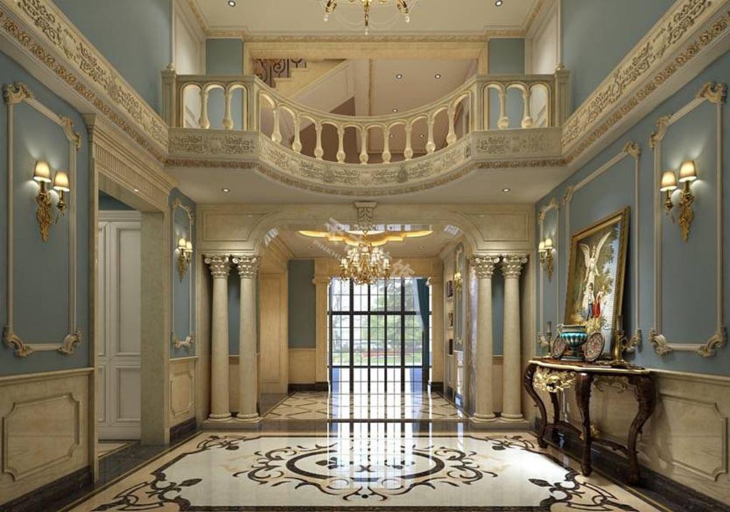 融创凡尔赛装修,凡尔赛独栋别墅装修 法式风格效果图