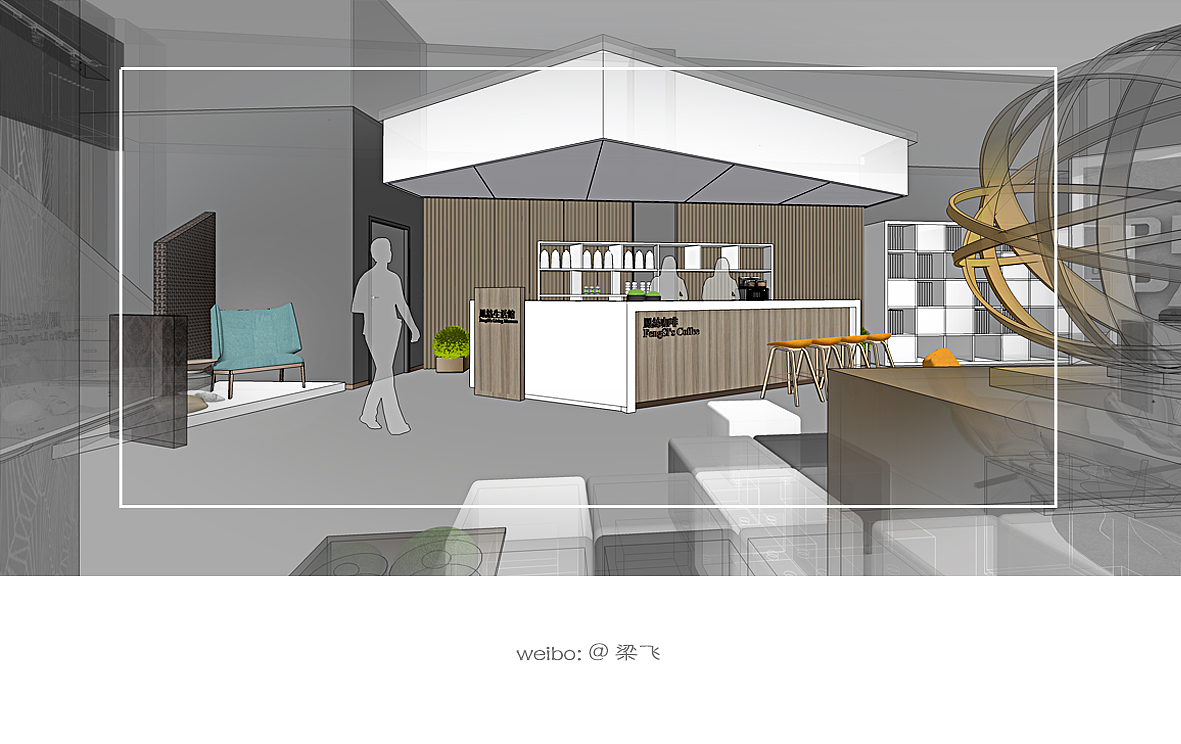 整个展厅空间分为玄关,公司形象墙,五大体验区,敞开式办公,前台,水吧图片