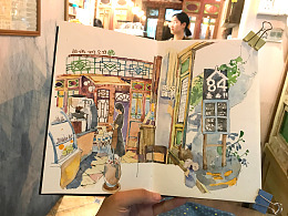 画本里的咖啡馆