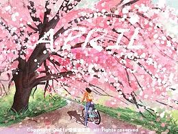 春暖,花开|春日三月里的一些插画