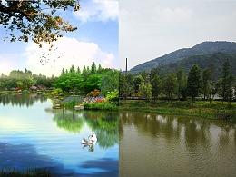 ps景观效果图  18年10月到6月毕业 #湘南学院#2018届
