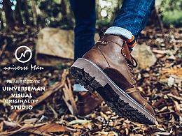 工装靴 男鞋 淘宝摄影 商业摄影广告 宇宙人摄影