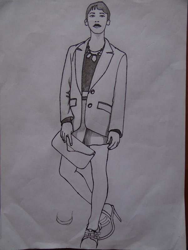 自己画的服装类手绘图图片