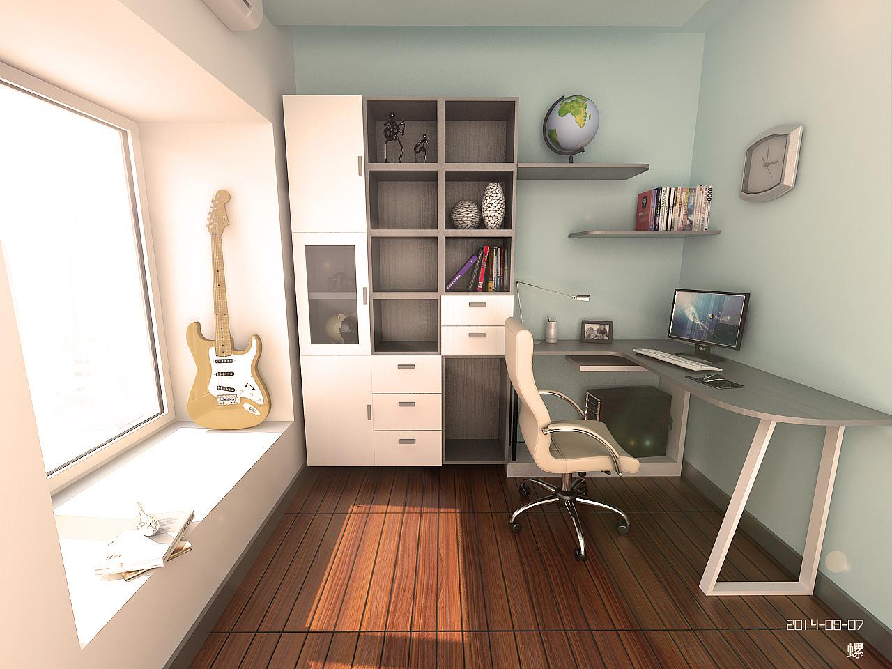 书房|空间|室内设计|玩具吖螺 - 原创作品 - 站酷图片