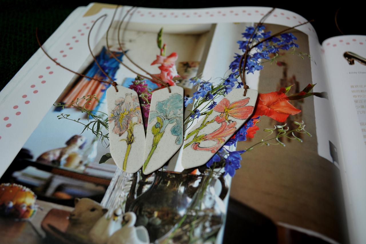 陶瓷书签-植物篇