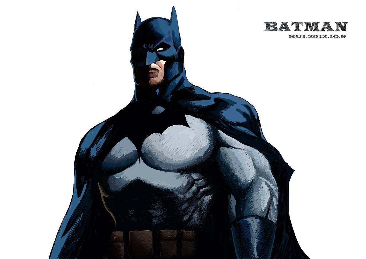 手绘蝙蝠侠
