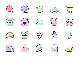 Icon图标,多色图标,可爱图标,小清晰图标