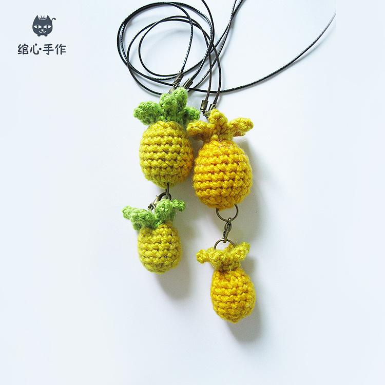 编织菠萝毛衣链