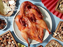 1819摄影工作室-国潮新中式烧腊鸡鸭鹅卤味美食拍摄