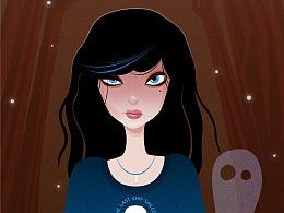 AI插画临摹练习- EVIL GIRL