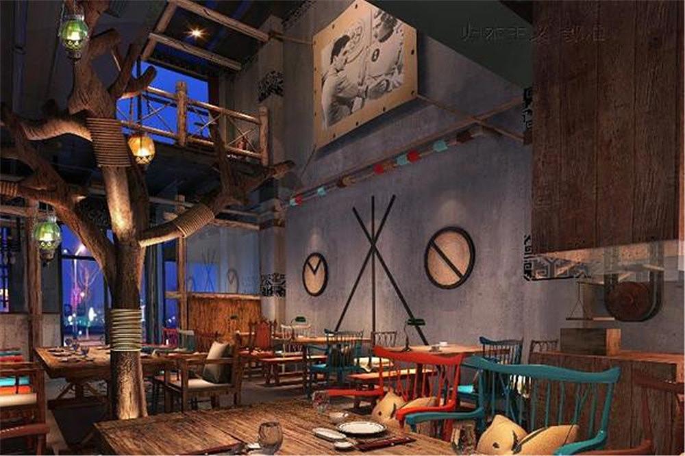 北京望京部落烧烤店设计案例
