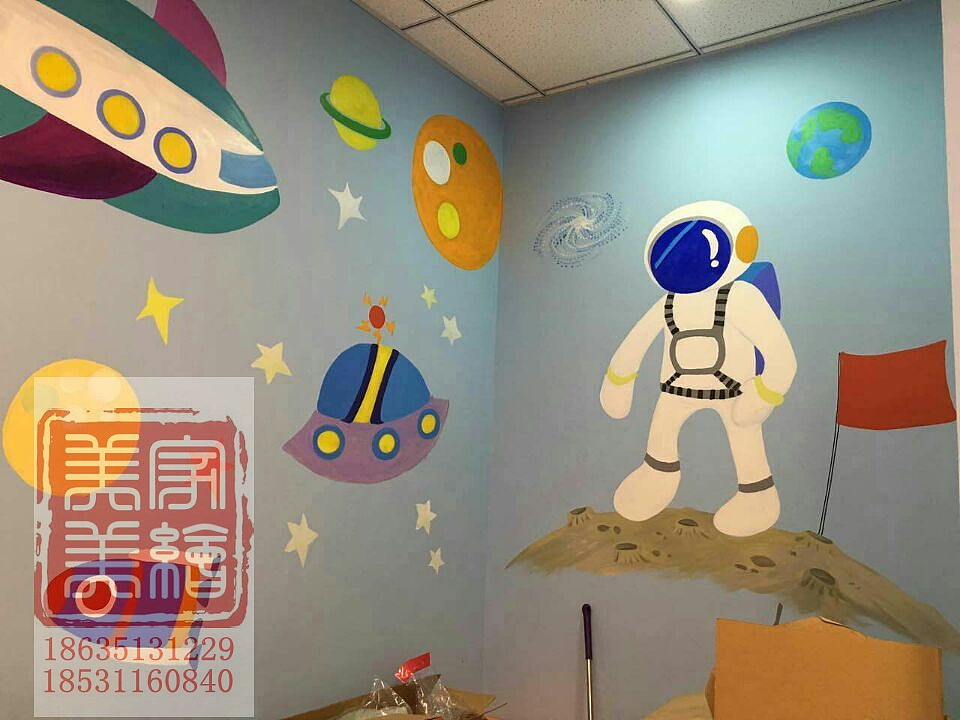 太原幼儿园手绘墙绘墙体彩绘.太原幼儿园文化墙.