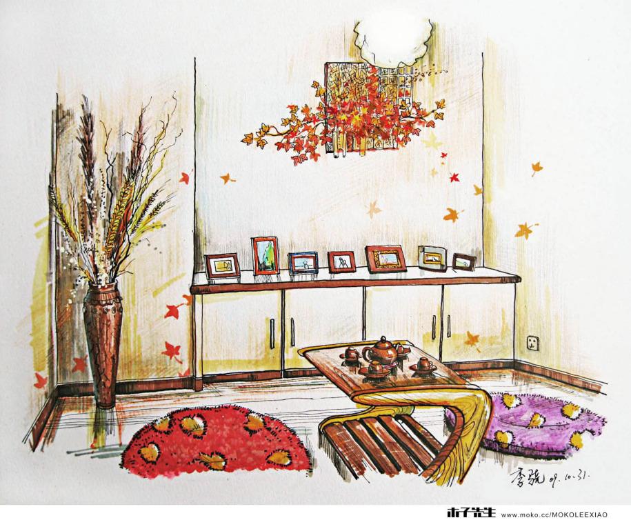 室内手绘效果图b