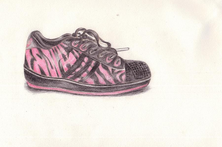 手绘作品运动鞋