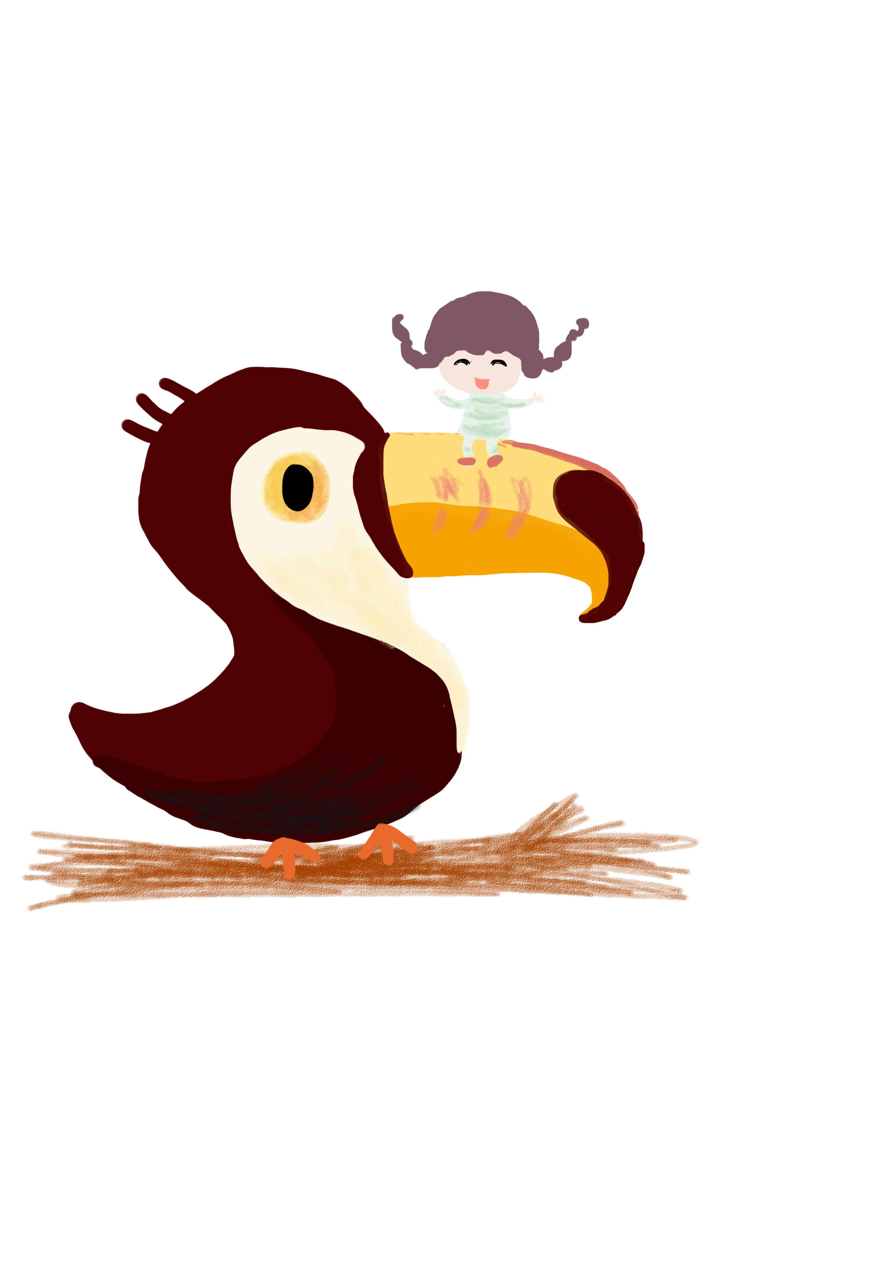 最初的手绘板作品|插画|插画习作|我爱土豆丝 - 原创