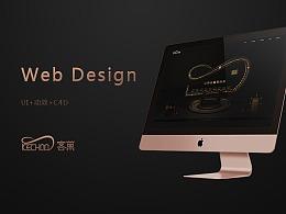 网页设计-企业全套设计之二/视觉/动效设计/C4D建模/VI