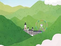 布林插画 X 蓝城地产-天使小镇——007的退休生涯