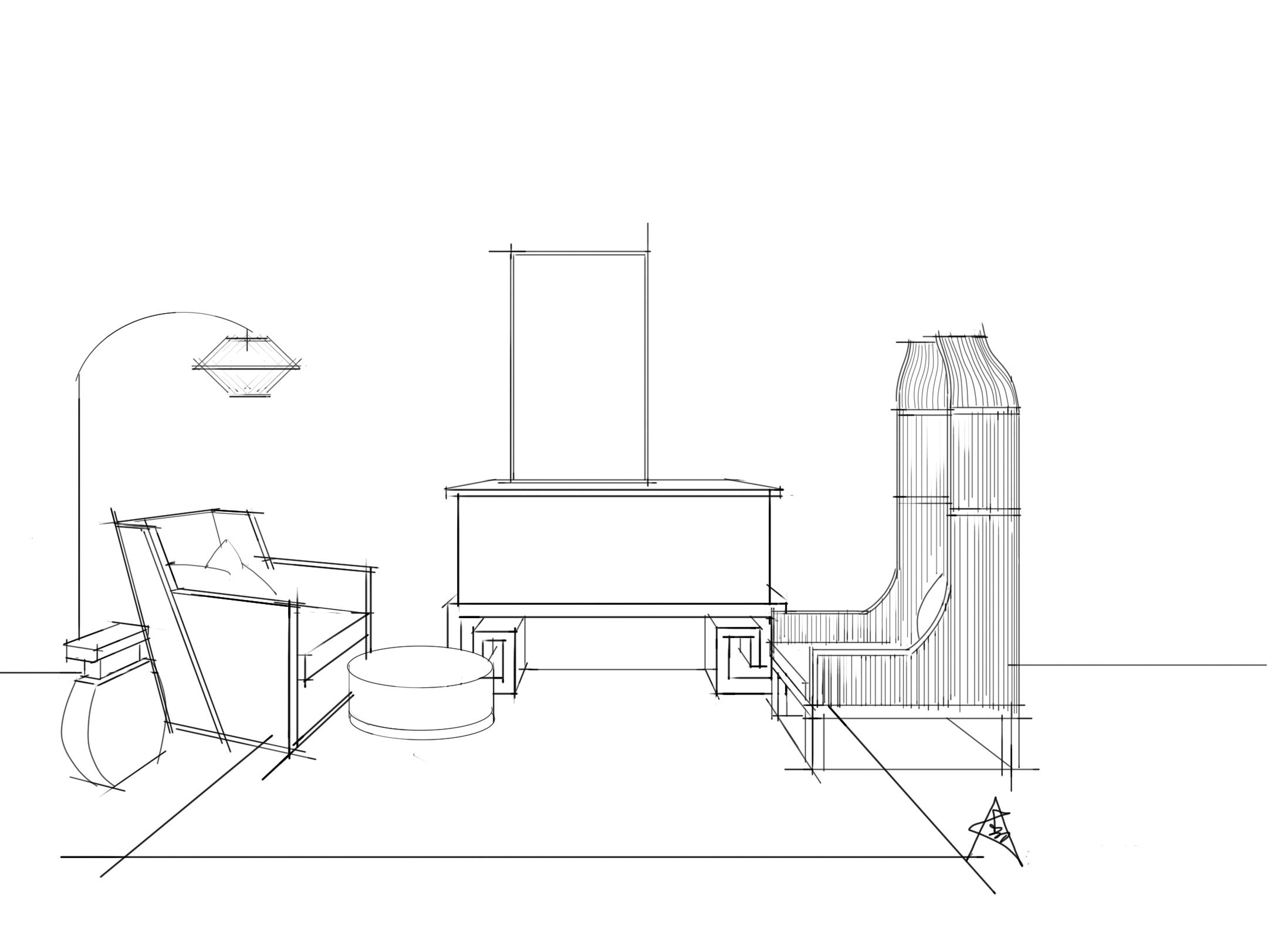 单体线稿(手绘)|空间|室内设计|a32号 - 原创作品