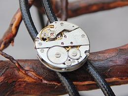 原创设计手工bolo tie小众蒸汽朋克机械表芯波洛绳领带