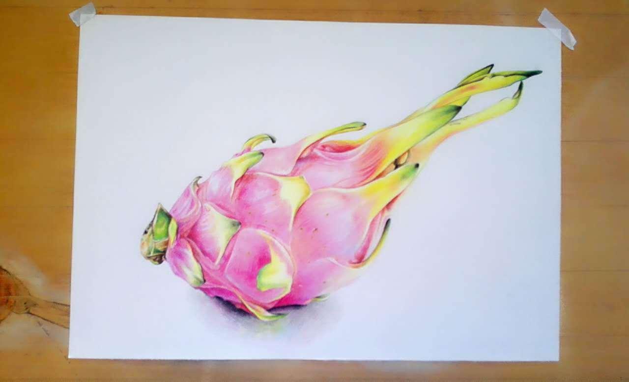 彩铅水果,第一次画|纯艺术|油画|奇斐手绘坊 - 原创