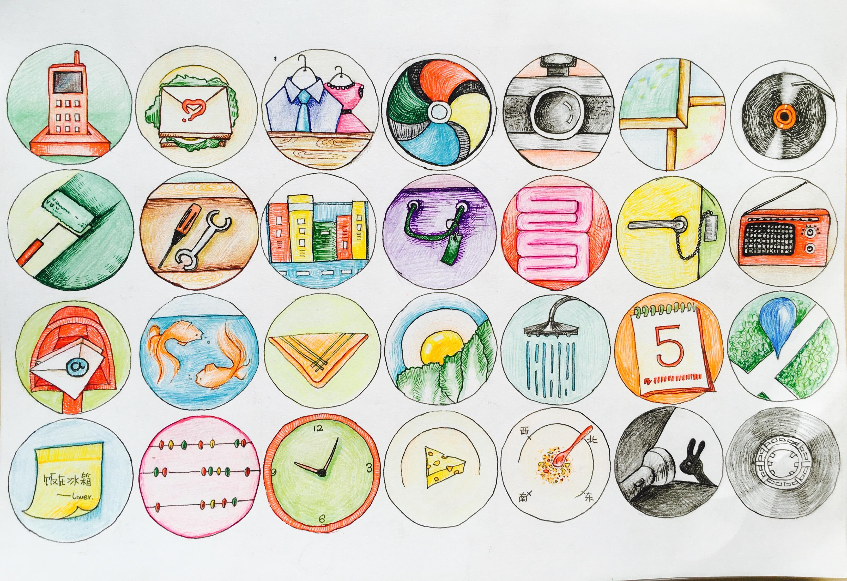 原创手绘图标-,京东手机页面临摹