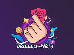 Dribbble上的一些作品