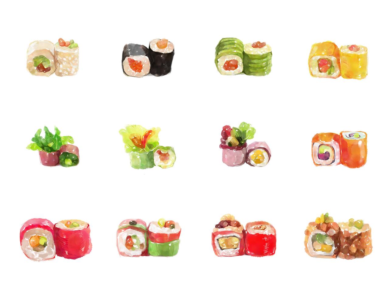 寿司图片 卡通图片