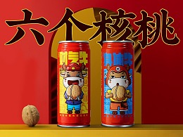 六个核桃   贺岁牛运罐产品平面拍摄