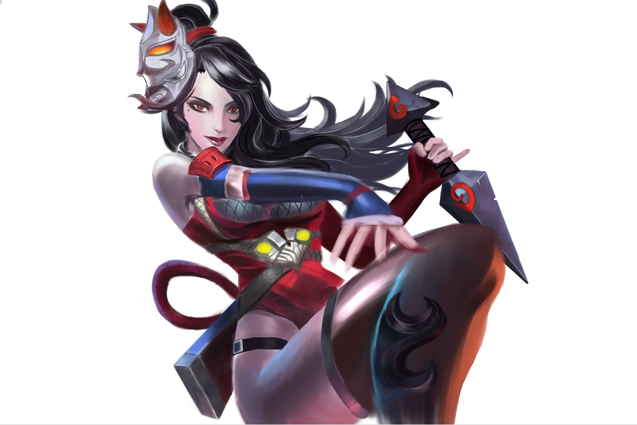 王者荣耀手绘练习稿|插画|游戏原画|施莉婕echo