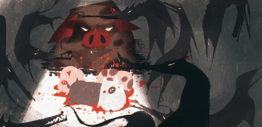 百词斩计划阅读-《庄园浮云》封面以及插图|商神马都是电影动物票房图片