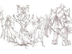 《海妖,恶魔,帕拉丁,维那》角色设计