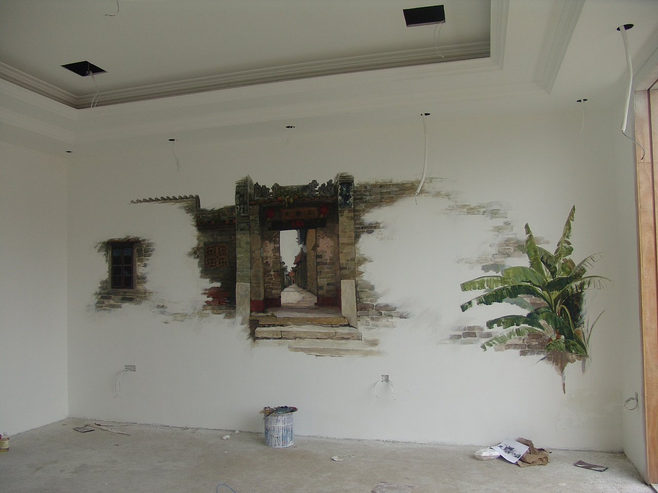 手绘墙画步骤 手绘墙画图片大全欣赏-参谋家