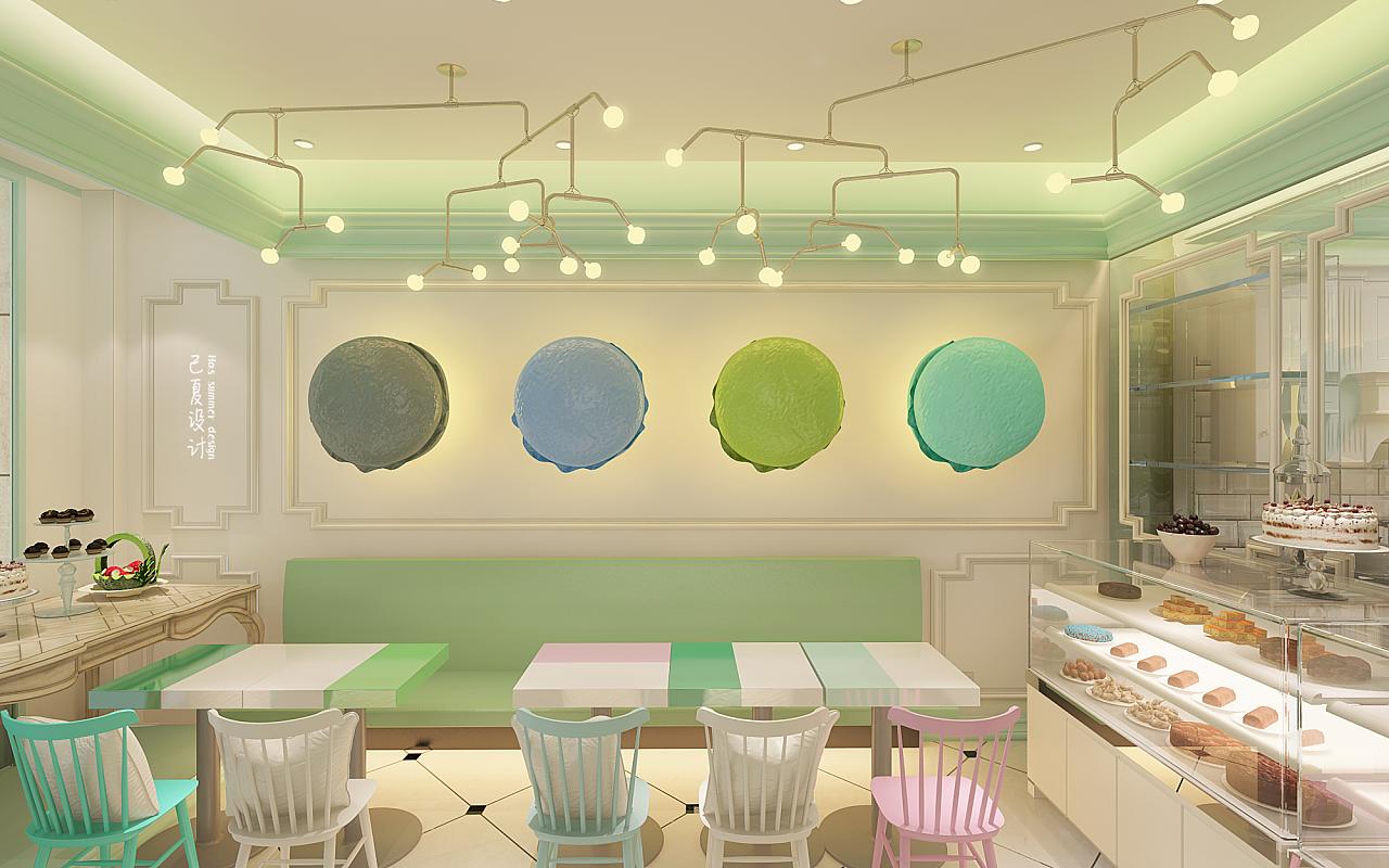 蛋糕店|空间|室内设计|已夏设计 - 原创作品 - 站酷