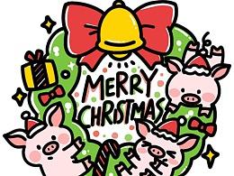 微信表情包∣嘟嘟猪圣诞特别版