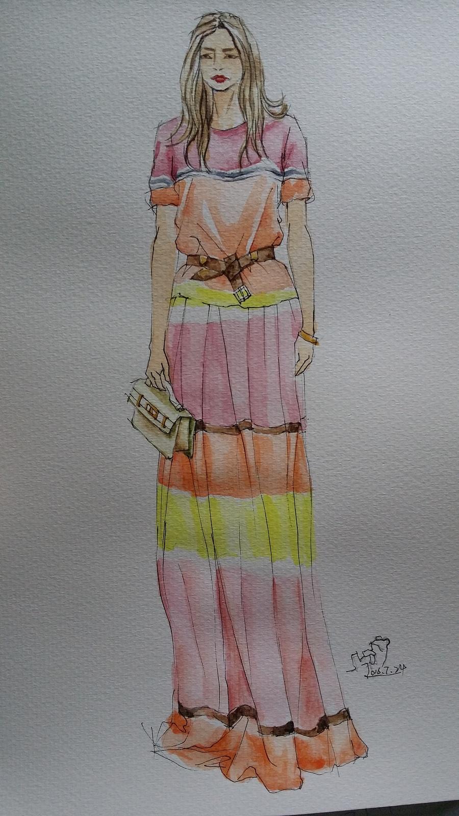 原创作品:手绘时装插画(女装)