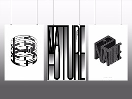 字体试验海报