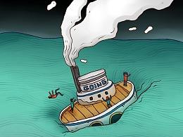 汪洋中的小船