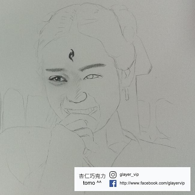 凤九图片手绘铅笔画