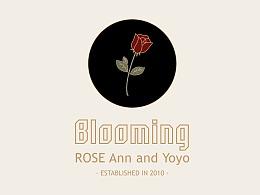 复古花艺品牌blooming vi
