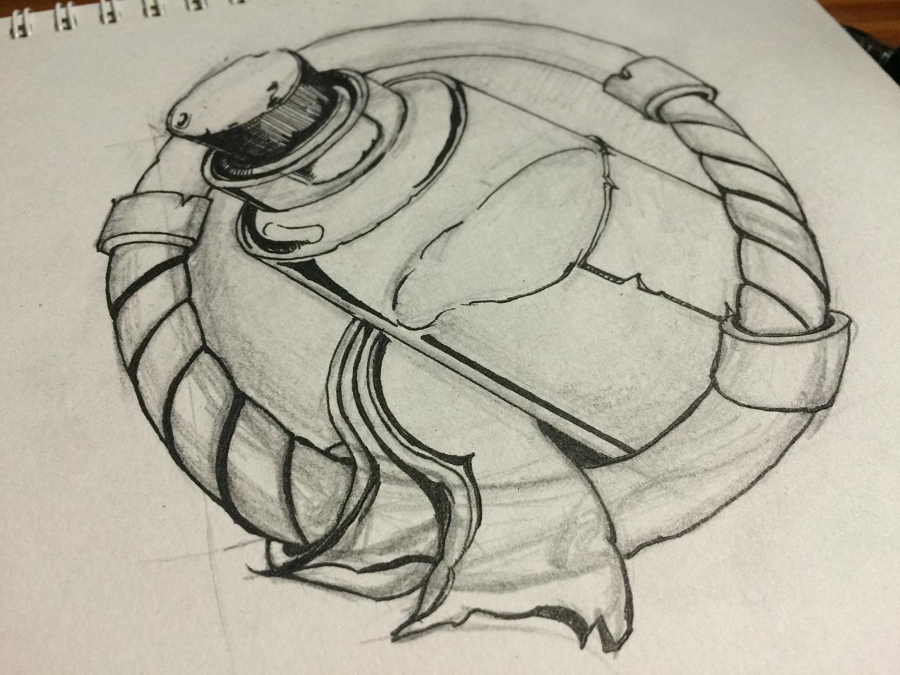 手绘黑白线描游戏图标(药水)|插画|其他插画|鱼哥哥
